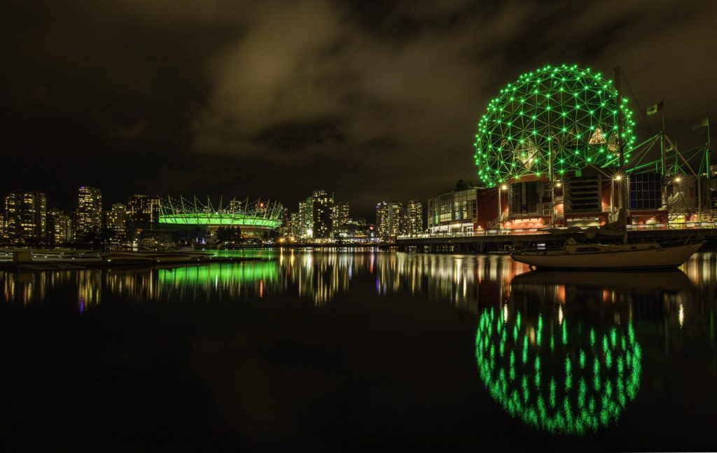 BC Place (L) and Science World (R), Vancouver, BC